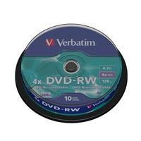 DVD-RW 4x Advanced SERL 4,7GB Spindle 10 uds