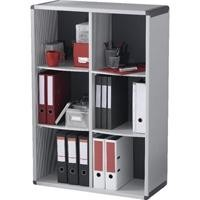 FAST PAPERFLOW MUEBLE BIBLIOTECA DE  6 CASILLAS COLOR GRIS 1172X790X330MM REF BM6K2.07