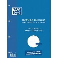 ENRI RECAMBIO 100 HOJAS 90 GRAMOS A4 CUADRICULA 4X4 CON MARGEN REF. 12104899