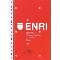 ENRI RECAMBIO 100 HOJAS 60 GRAMOS FOLIO HORIZONTAL CON MARGEN REF. 121203