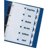 AVERY INDEX MAKER CARTUL 180 GR A4 CARAT INDICE PESTAÑ PLASTIF 6 SEPAR PERFORADO REF 01638061