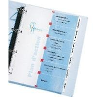 AVERY INDEX MAKER CARTUL 180 GR A4 CARAT INDICE PESTAÑ PLASTIF 6 SEPAR SIN PERFORAR REF 01730061