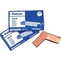 PETRUS CAJA 1000 GRAPAS DE OFICINA 26/6 COBREADA REF 55710