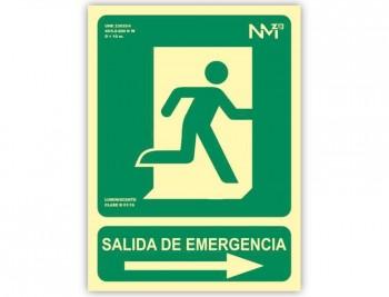 ARC SEÑALIZ.SALIDA EMERGENCIA DCHA VE 224X300 6170-04H