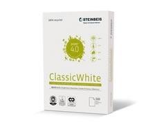 PAPEL RECICLADO A.4 80GR.STEINBEIS CLASSIC WHITE