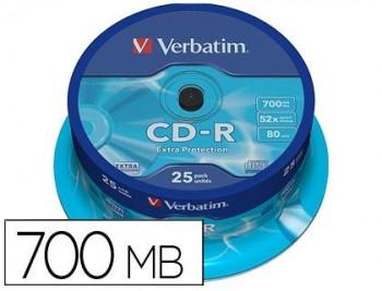 CD-R VERBATIM 700MB 80MIN BOBINA 25U.