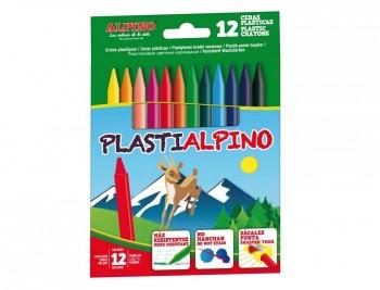LLAPIS CERA PLASTIALPINO 12 COLORS